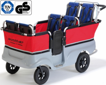 Winther Turtle Kinderbus / Krippenwagen für 6 Kinder