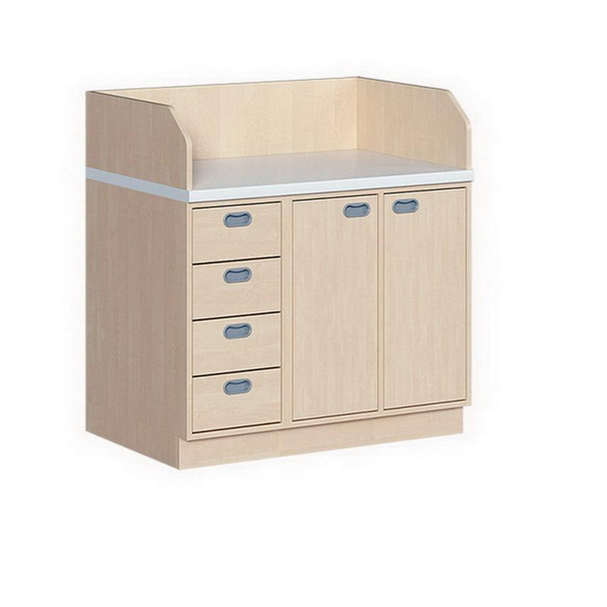 wickelkommode mit 2 t ren und 4 dekorsch ben. Black Bedroom Furniture Sets. Home Design Ideas