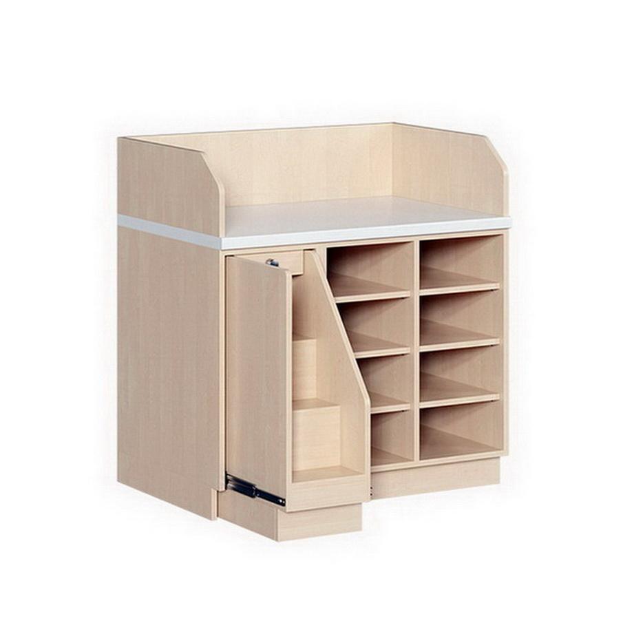 wickelkommode mit treppe und regal. Black Bedroom Furniture Sets. Home Design Ideas