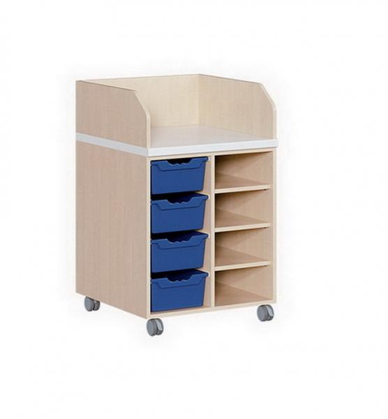 wickelkommode mit 4 ergotrayboxen und regal. Black Bedroom Furniture Sets. Home Design Ideas